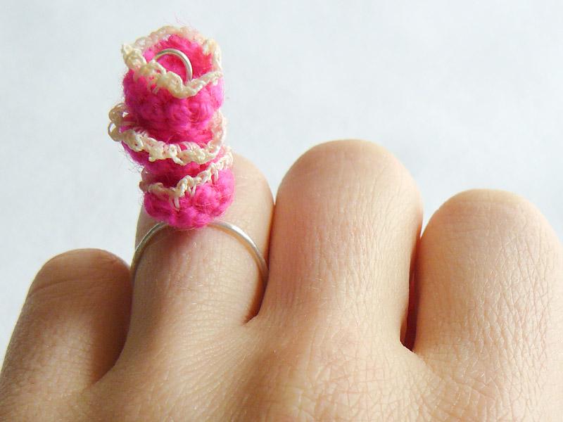 Ring-Crochet-Triple-Stack-Pink-Flower-Crop-5-W