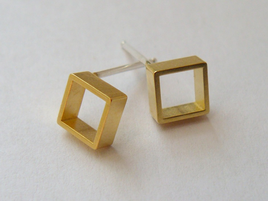 stud pebble post pin gold earrings round goldfilled simple