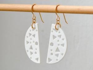 80s Cut Out Half Moon Earrings