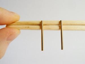 Gold Bar Short Studs
