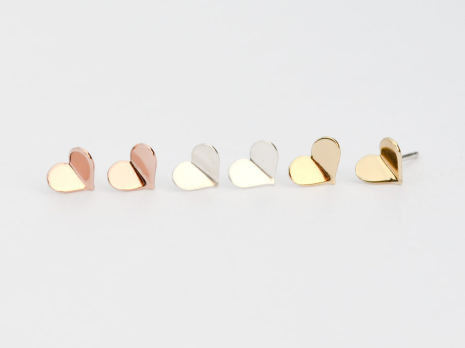 Gold-Rose-Gold-Silver-Group-Bent-Hearts