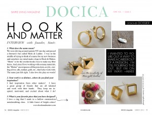 Hook & Matter Docica Magazine March 2012
