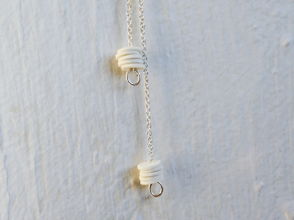 10 Porcelain Circles Lariat Necklace 3