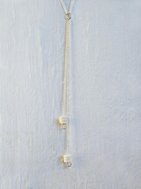 10 Porcelain Circles Lariat Necklace 2