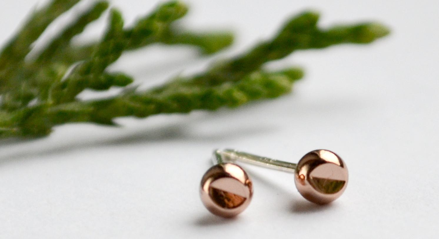 handmade modern jewelry, stud earrings and more!