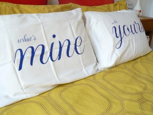 What's Mine Is Yours Romantic Pillowcases