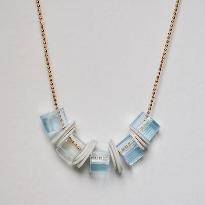 Acrylic and Porcelian Necklace from Hook & Matter