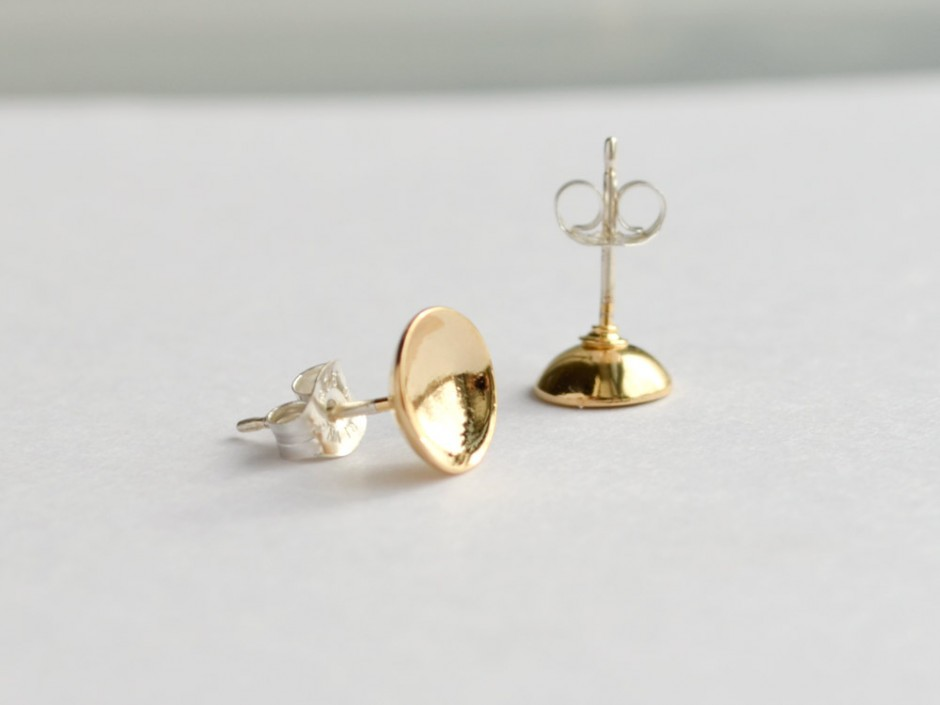Hemisphere Gold Earrings