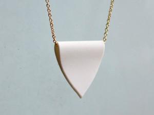 Porcelain Pendant Gold Necklace