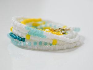 teal-yellow-white