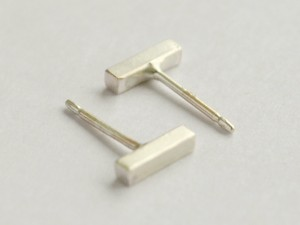 Sterling Silver Square Bar Studs